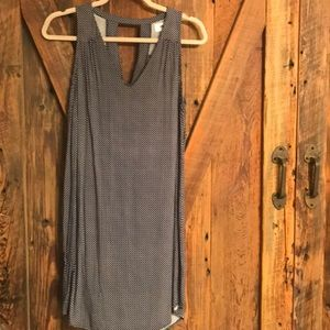 Navy dress with key hole back